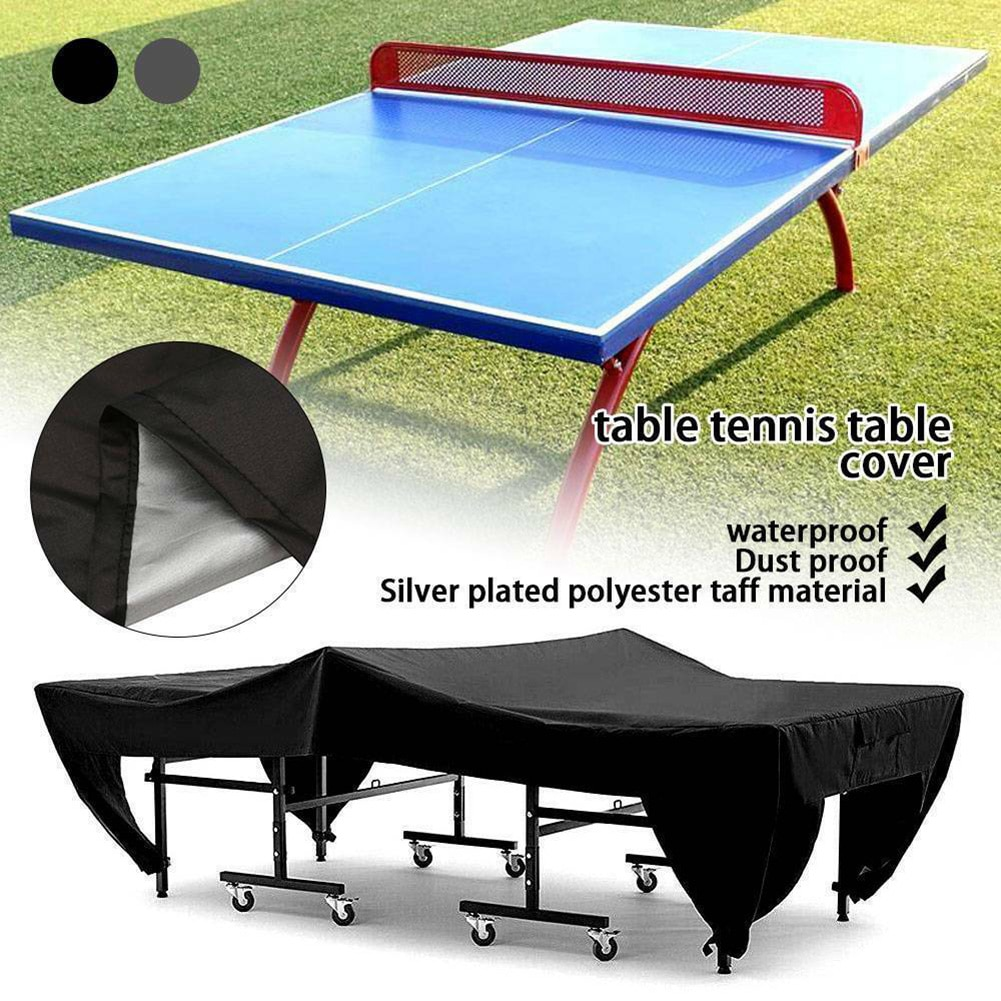 Black/Gray Table Cover Dustproof For PingPong Table Indoor & Outddor Irregular