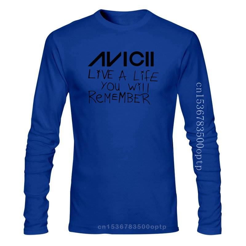 New Avicii Live A Life You Will Remember T-Shirt unisex Tee avicii EDM Legend Dance Casual Short Sleeve Shirts Tee