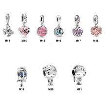 Real 100% 925 Sterling Silver Happy Birthday Mother day Theme fit Original Pandora Bracelets Women DIY Jewelry 2020