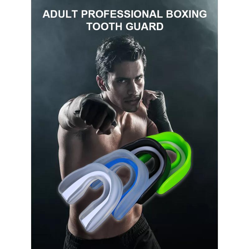 Спортивная защита для рта из ЭВА, защита для зубов пищевого класса, боксерские подтяжки Sanda Taekwondo, защита от моляров, защита зубов в коробке