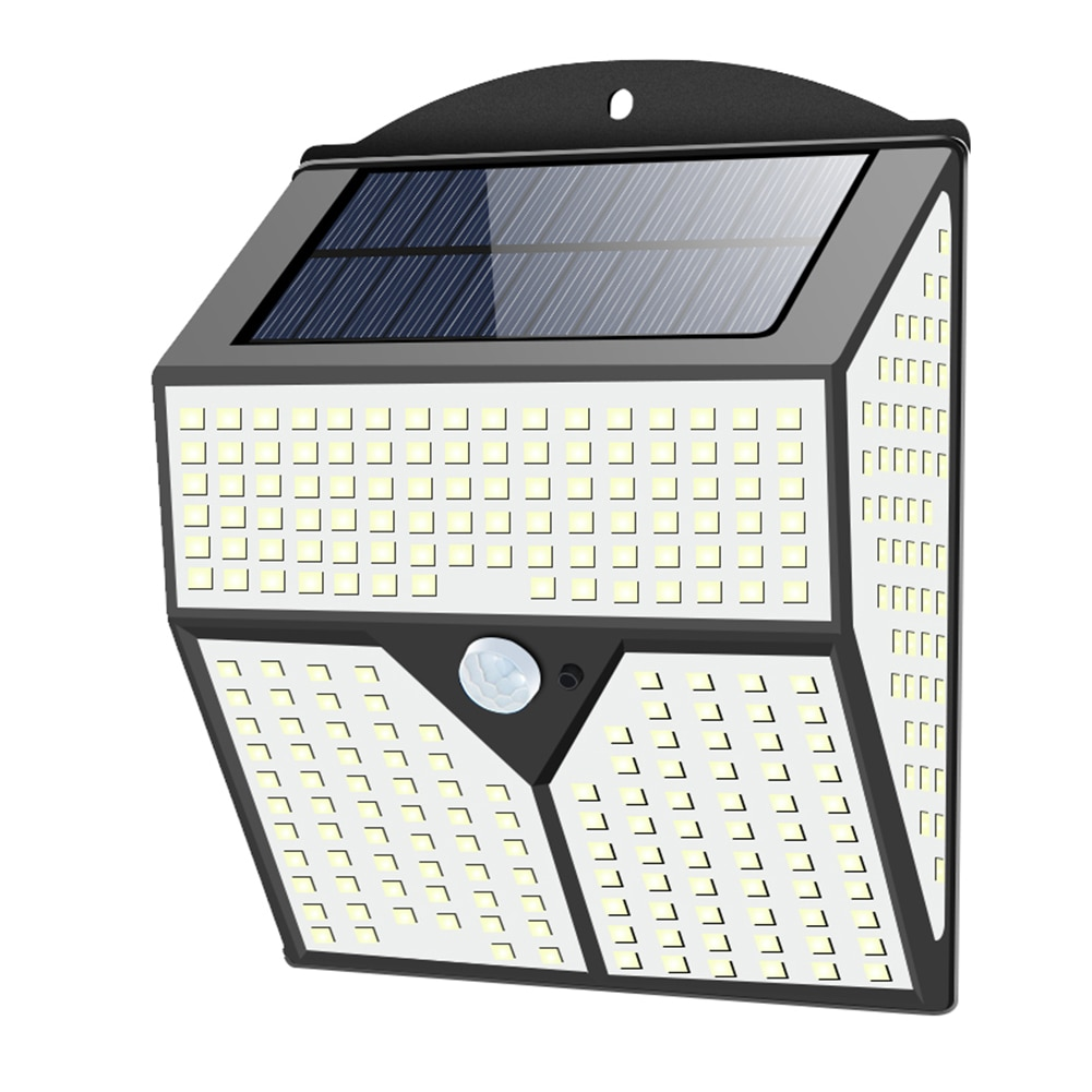 1/2pcs Solar Street Light Four-sided Luminous 436 Led Induction Wall Light Outdoor Light For Garden