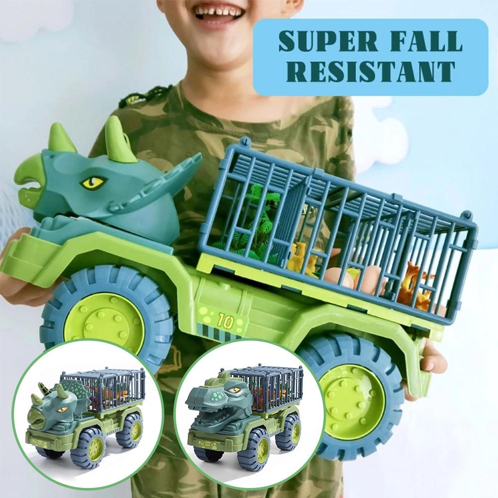 Автомобиль-динозавр, игрушечный автомобиль-переносчик с динозавром, игрушечный автомобиль, игрушечный автомобиль с динозавром, подарок дл...
