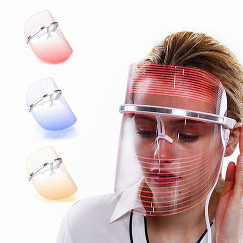 LED Mask Spectrometer Photon Skin Rejuvenation Device Rechargeable 3 Colors Facial Skin Care Beauty Therapy Led Light Therapy