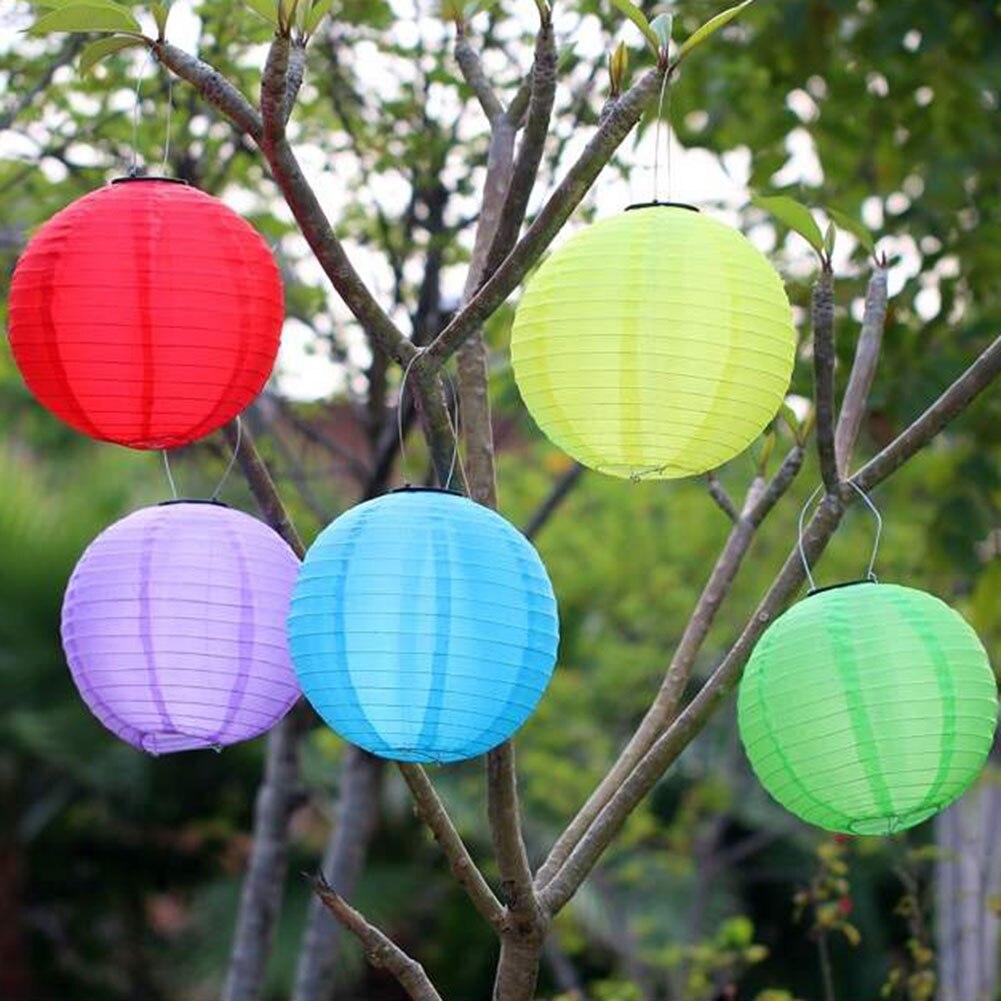 30cm LED linterna lámpara Solar IP55 impermeable patio exterior jardín Festival decorativo luz colgante linterna decoración de Navidad