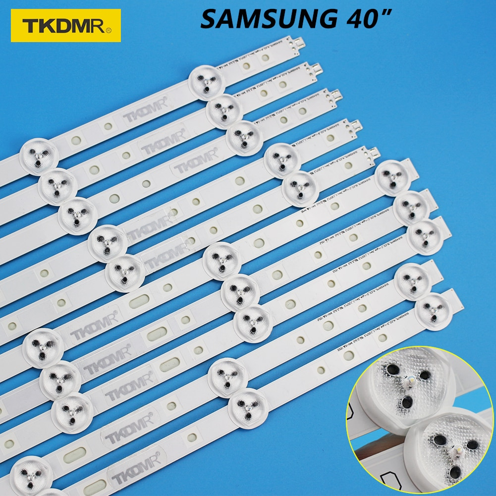 TKDMR LED-Backlight Strips 40 inch x 10pcs ABCD type for Samsung TV SVS400A73 40D1333B 40L1333B 40PFL3208T LTA400HM23 SVS400A79 enlarge