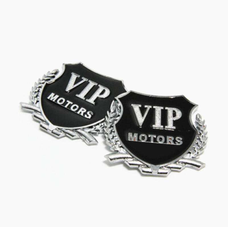 2 uds 3D Metal motor VIP pegatina emblema para el coche para renault megane 4 volkswagen tiguan suzuki samurai volvo c30 volkswagen passat