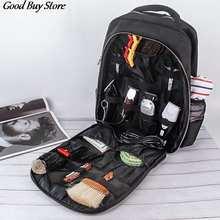 Водонепроницаемый рюкзак для парикмахерских инструментов, Парикмахерская сумка-Органайзер для хранения в багаже, рюкзак большой вместимо...