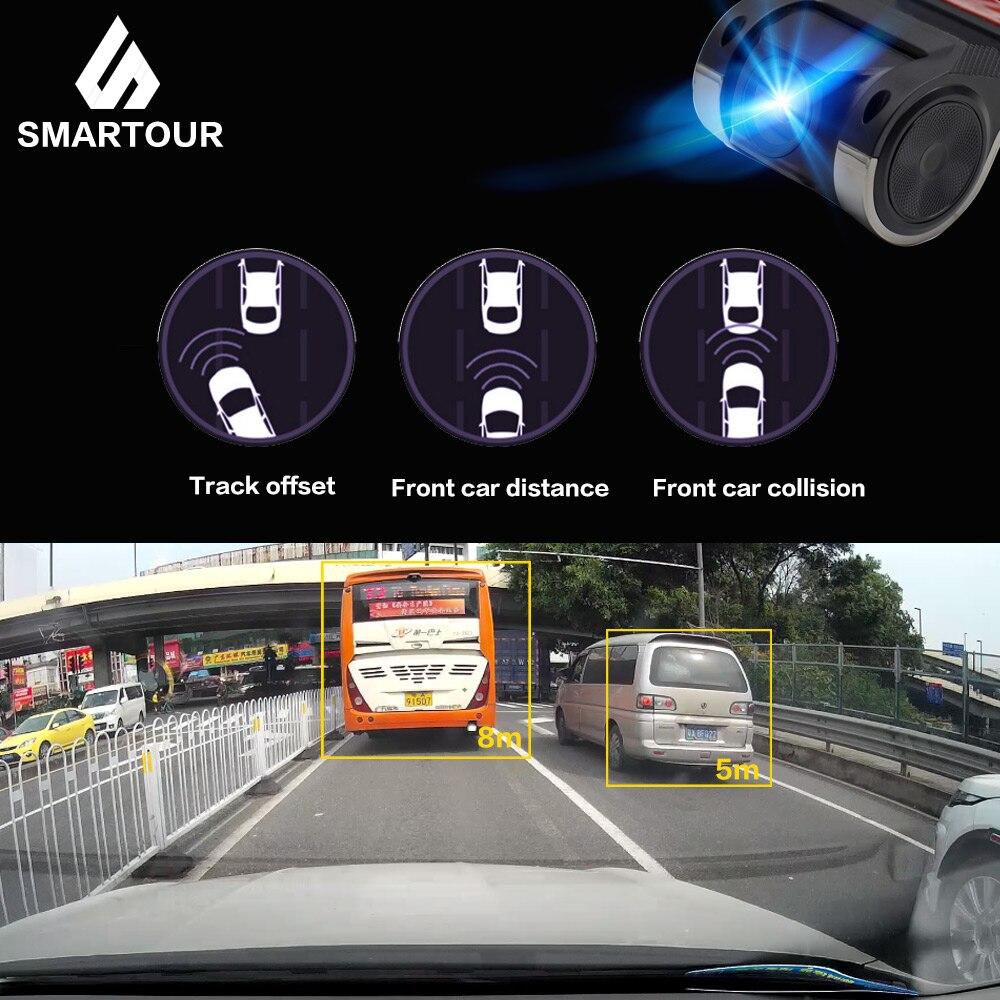 Smartour-كاميرا DVR للسيارة ، مسجل DVR للسيارة ، موصل USB ، 1280x720P ، DVRs لنظام Android ، كاميرا صغيرة مع ADAS