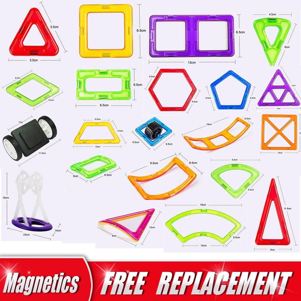 Big Size Magnetic Designer Magnet Building Blocks Single Piece Accessories Part 3D Educational constructor Toys For Kids Gift magnetic blocks constructor toys for kids mini building magnet games children s designer educational toy for boys girls gift