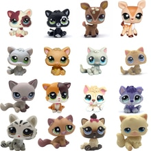 LPS chat ancien animalerie mignon jouets Mini cheveux courts chaton himalayen Kitty Husky chien épagneul Collie grand danois Rare Figure Collection