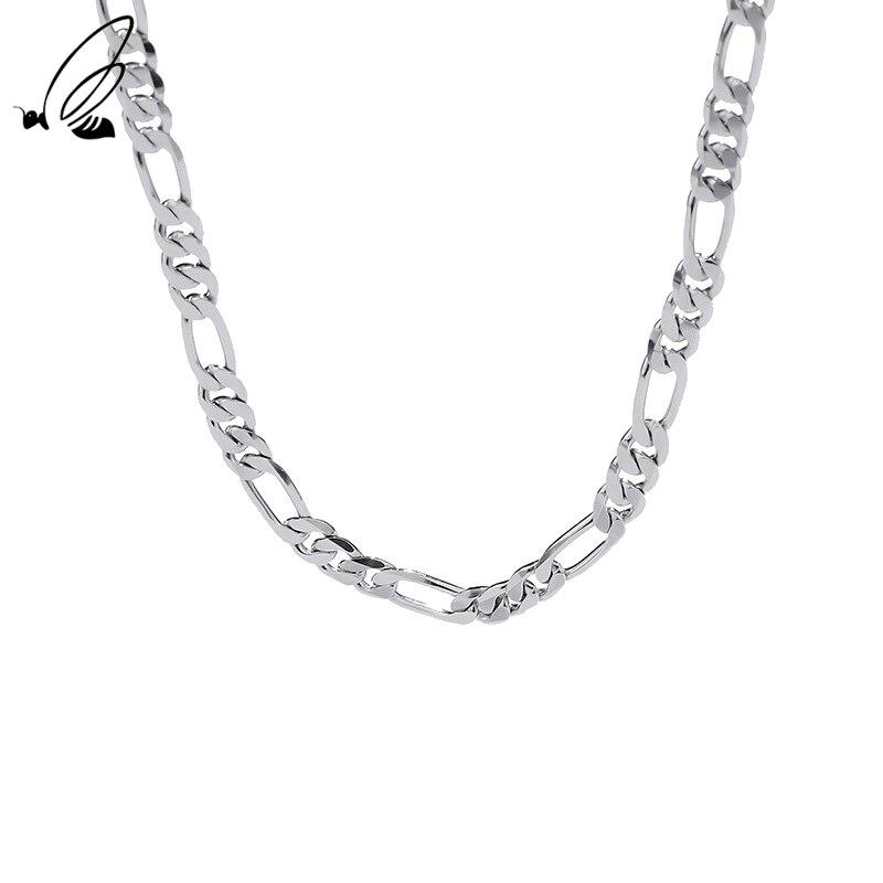 Цепочка «Фигаро» женская из серебра 925 пробы, в готическом стиле