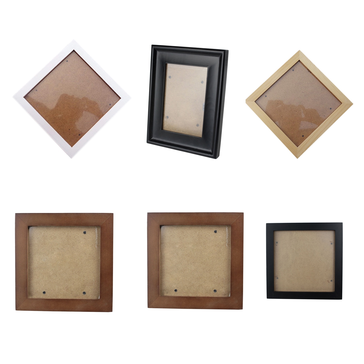 Square Thick Pine Wood Photo Frame Wall Picture Frame