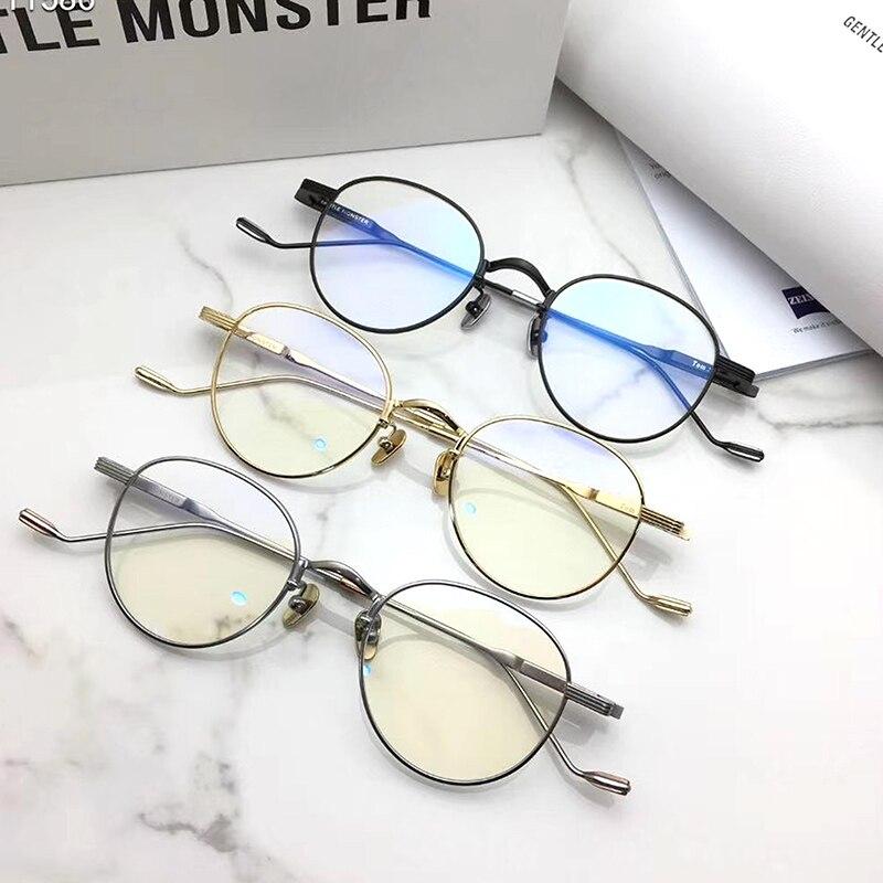 Korean brand design GENTLE Eyeglasses frames Tom21 Women Men titanium  Eyewear Frames For Reading Myopia Prescription lens