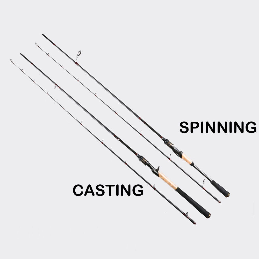 Rings Spinning Rod 1.8m1.98m L UL ML ultralight Carbon Spinning Casting Fishing rod for 2 Sections fishing rod High Quality enlarge