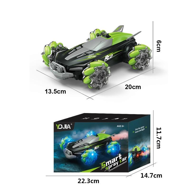 New product mini spray remote control car 360 light stunt remote control car four-wheel drive off-road gesture sensor remote con enlarge