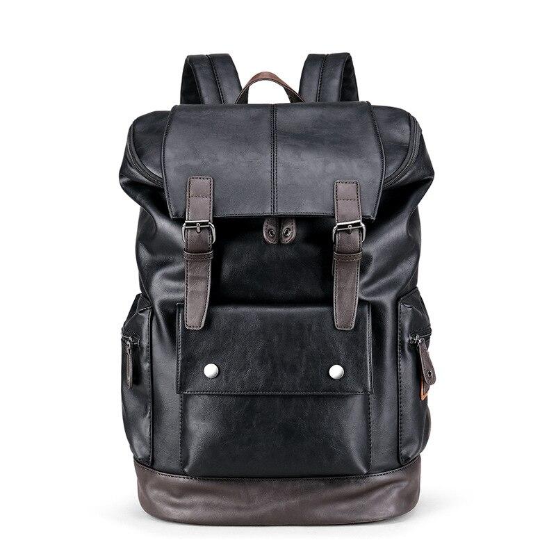 Мужской кожаный рюкзак Weysfor Vogue, мужской рюкзак через плечо, мужские рюкзаки, рюкзак, водонепроницаемая дорожная сумка, повседневный школьны...