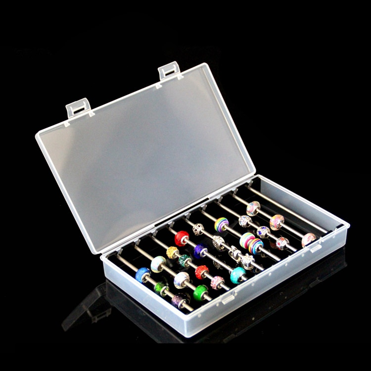 Acrylic Pandora Box Charm Beads Bracelet Ring Holder Jewellery Organizer JewelryTray Diy Finding Dis
