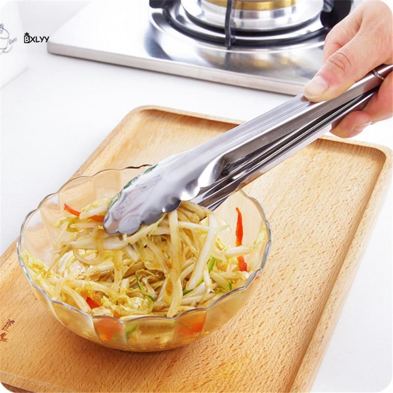 De acero inoxidable pan Clips barbacoa alimentos Clips accesorios de cocina Gadgets cocina bufet herramientas productos de cocina Bakeware.75