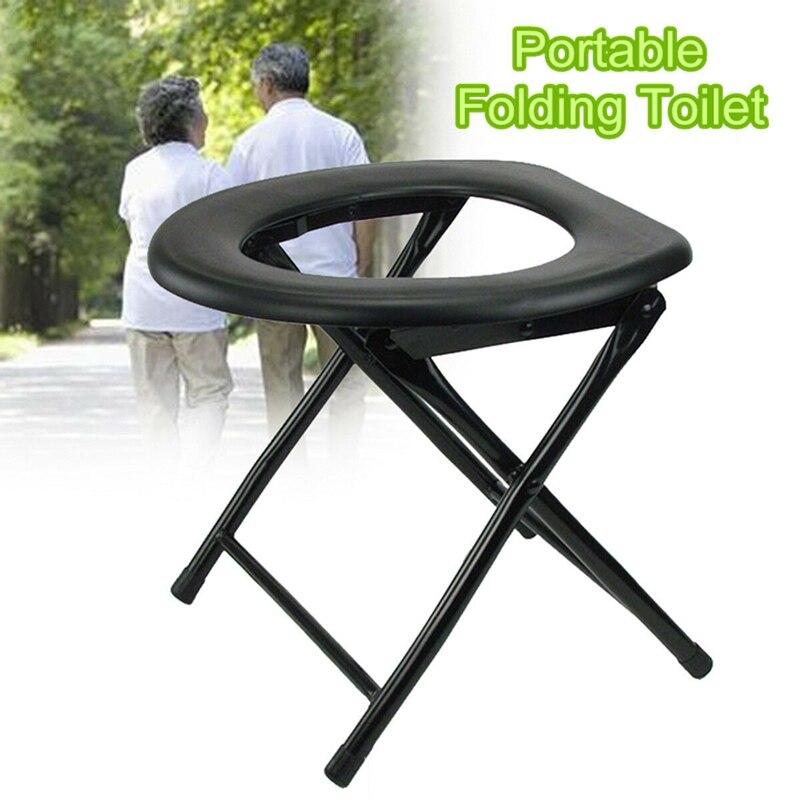 Asiento plegable portátil para pesca al aire libre, taburete de viaje para acampar, asiento cómodo, inodoro, 2020