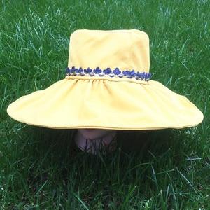Hat Sun Summer Women Female Casual Cotton Bucket Fisherman Outdoor Sports Cute Print Cap Wide Rim Flat Top Floral Travel Fishing