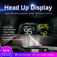A9 Car HUD Head-Up Display OBD 2 Digital Car Speedometer Alarm Speed Projector Warning Auto HUD OBD2 Display