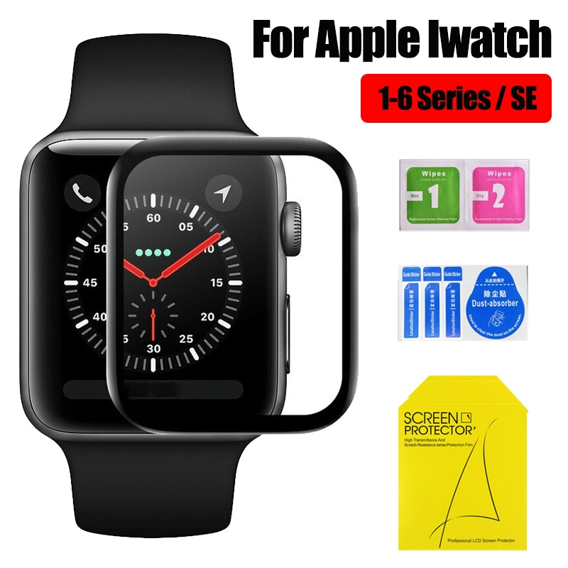3D Full Coverage Screen Protectors For Apple Watch 1 2 3 4 5 6 Series Protective Glass Film For Iwatch Se 38mm 40mm 42mm 44mm HD