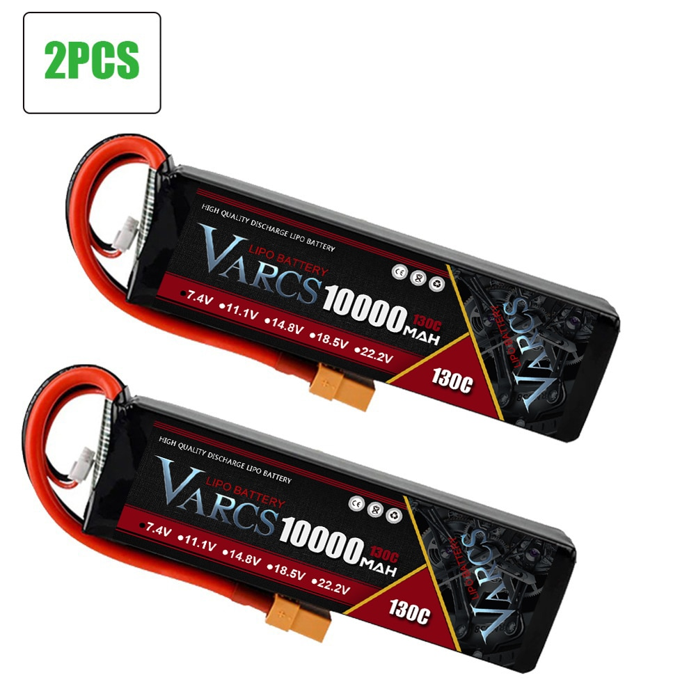 2PCS VARCS RC battery Lipo 2S 3S 7.4V 11.1V 6500mah 6750mah 9300mah 10000mah 95C 130C 140C  for RC Car Boat Stampede Drone enlarge