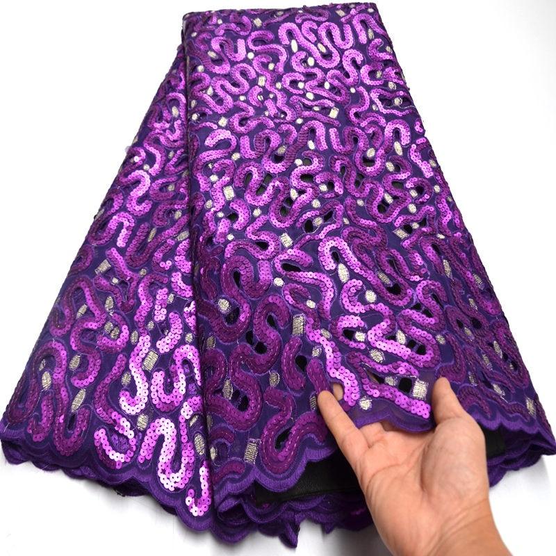 Folasade roxo profundo laço francês coréia fez africano suíço organza tecido de renda 2020 único brilhante nigeriano casamento wear ki233