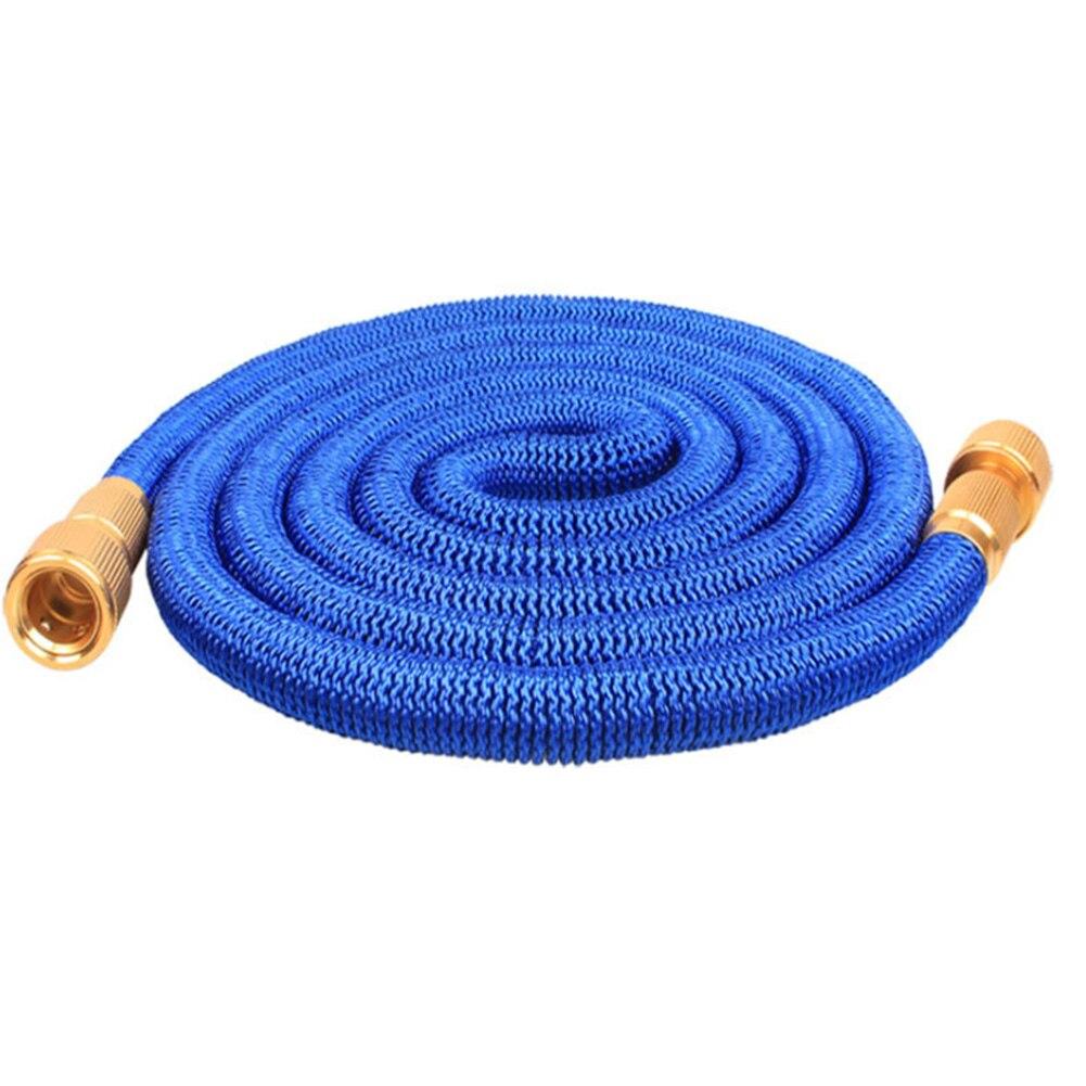 50 FT wysokociśnieniowy domowy fajka wodna wąż ogrodowy 3 razy elastyczny samochód do mycia automatyczny drenaż odporny na zużycie szczelny