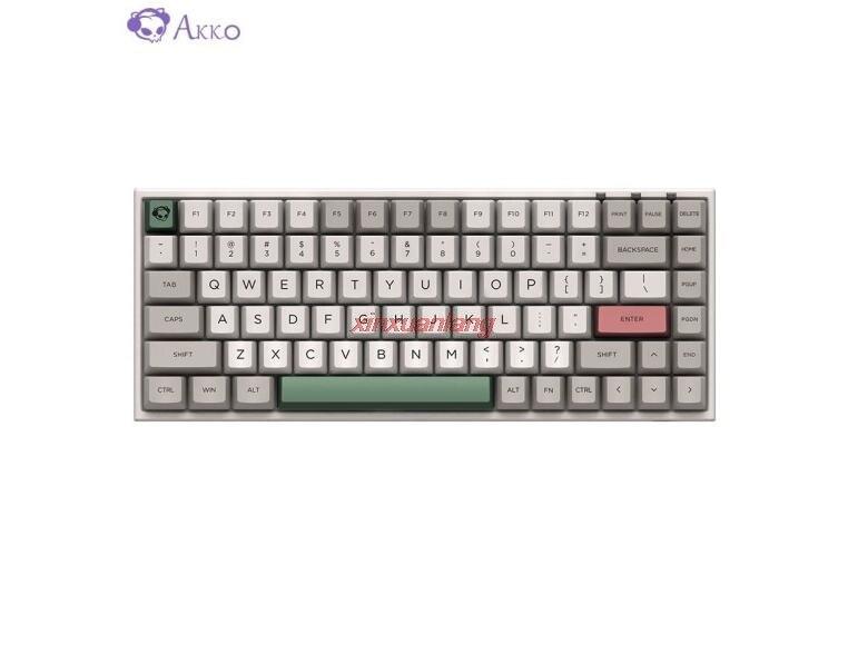 AKKO 3084 9009 لوحة مفاتيح الألعاب السلكية الرجعية 84 مفاتيح PBT مفاتيح نوع C ميناء الكرز MX التبديل لوحة المفاتيح الميكانيكية