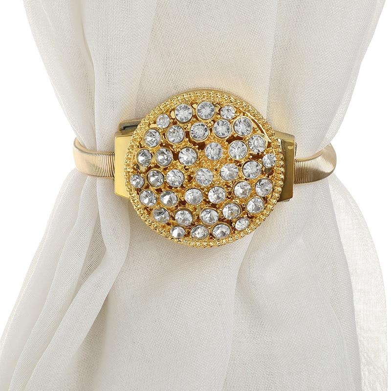Hebillas de Cortina con diamantes de imitación para decoración del hogar, soporte...
