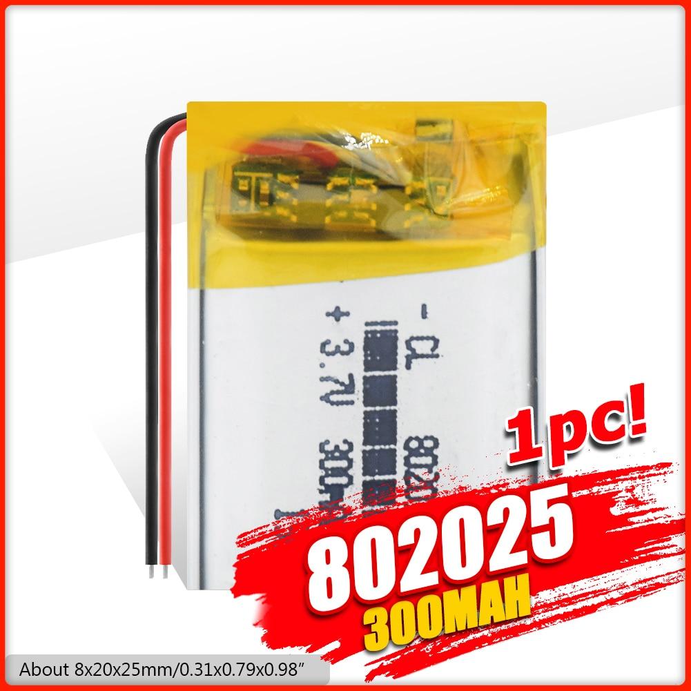 802025 de 3,7 V 300 mAh batería recargable de li-batería de polímero de iones de litio para Q50 G700S K92 G36 Y3 niños smart watch mp3 auriculares Bluetooth