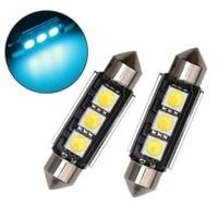 36mm 12v car led license plate light lamp bulbs 6418 c5w led bulbs reading lights blue color