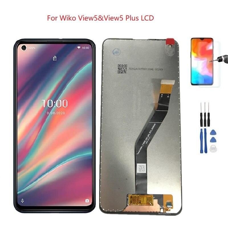 عرض Wiko View 5 شاشة تعمل باللمس تجميع محول الأرقام ل Wiko عرض 5 Lcd