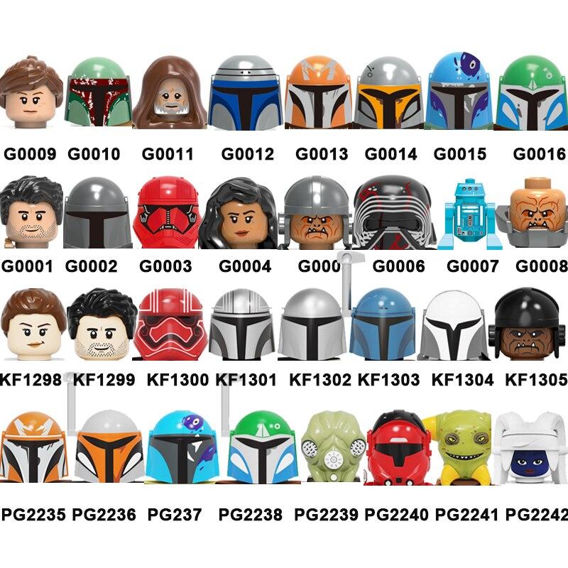 2021 г., популярная миниатюрная экшн-фигурка войны, кирпичи из серии фильмов, строительные блоки, головки, детские развивающие игрушки для дет...
