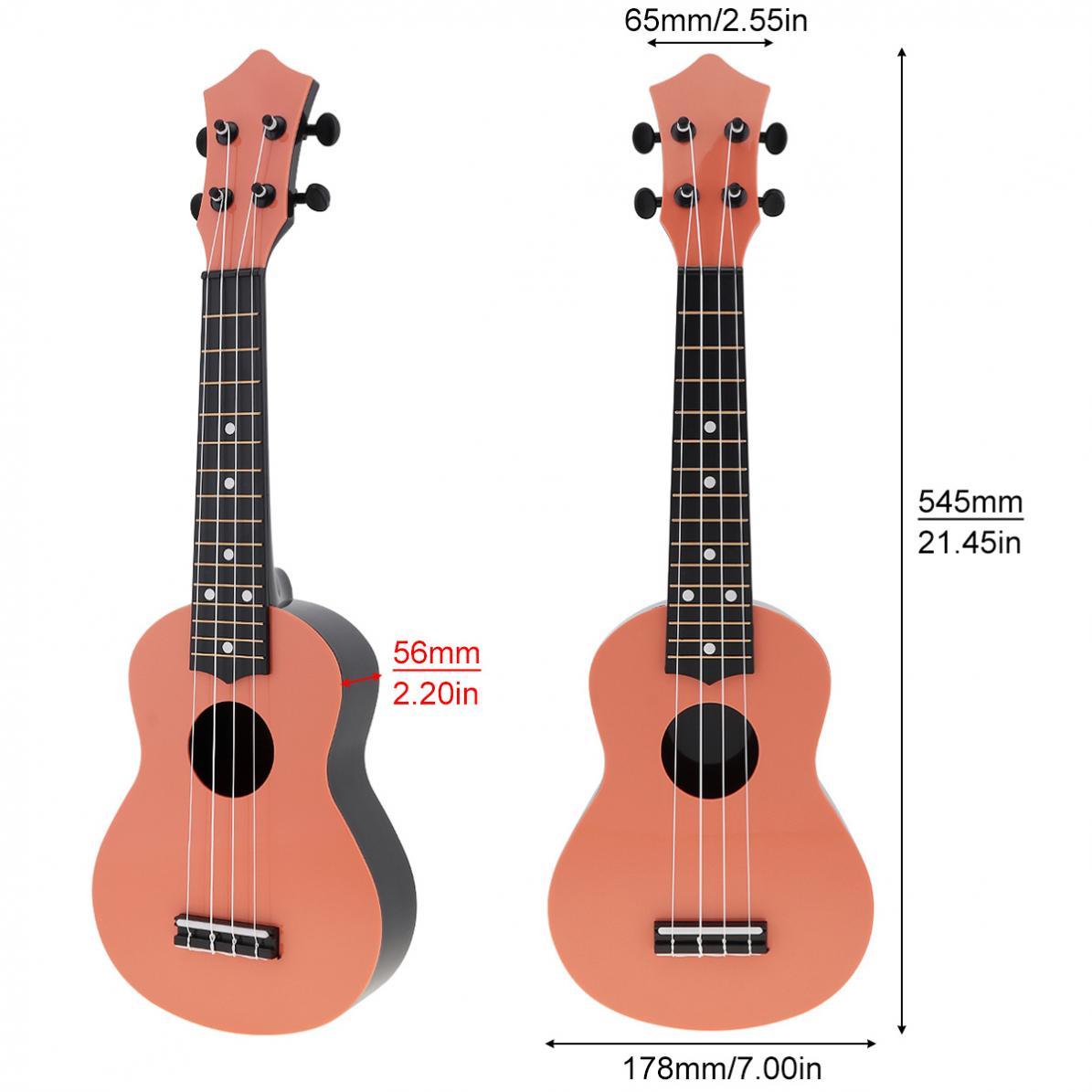 Ukulele 21 Inch Soprano Ukulele Colorful Plastic Acoustic 4 Strings Hawaii Guitar Instrument for Children and Music Beginner enlarge