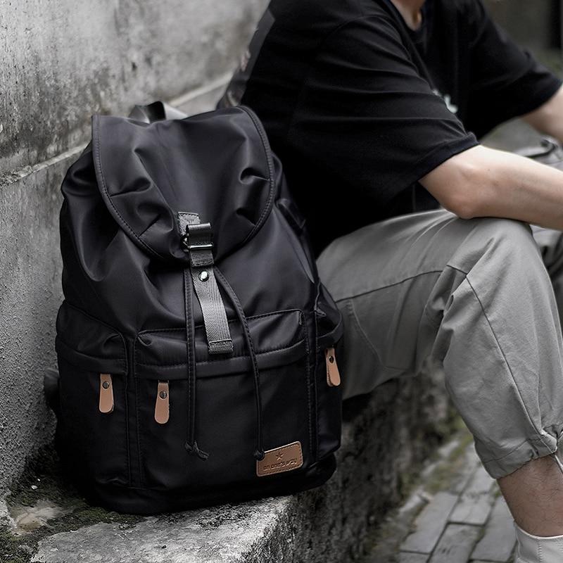 Large Capacity Travel Backpacks For Men School Bags Vintage Waterproof Daypack Black Ultralight 14 inch Laptop Backpack Bag 17 inch laptop backpack casual shoulders bag for teenage men backpack school bags waterproof backpack travel suitcase 17 3 inch