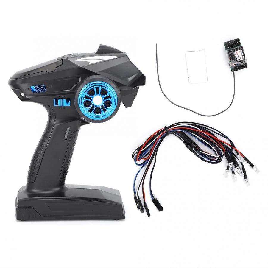 X6P 2,4G 6CH transmisor X6P + X6FLED receptor juego de luces LED para Axial SCX10 D90 1/10 1/8 coche trepador de control remoto barco tanque partes