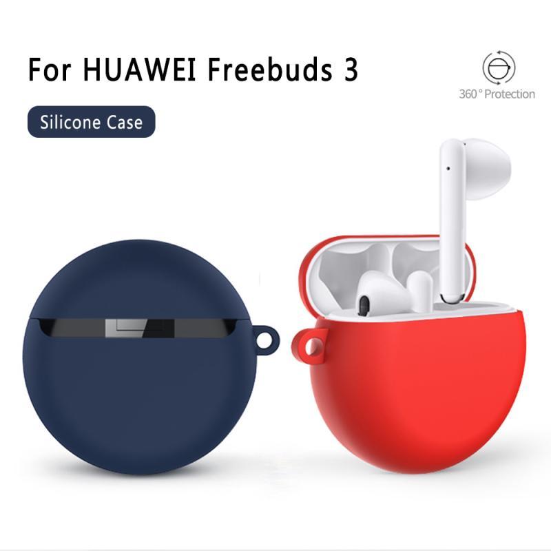 Fundas protectoras de auriculares para Huawei FreeBuds 3, funda con gancho de silicona suave estilo chino, funda antideslizante para accesorios de auriculares