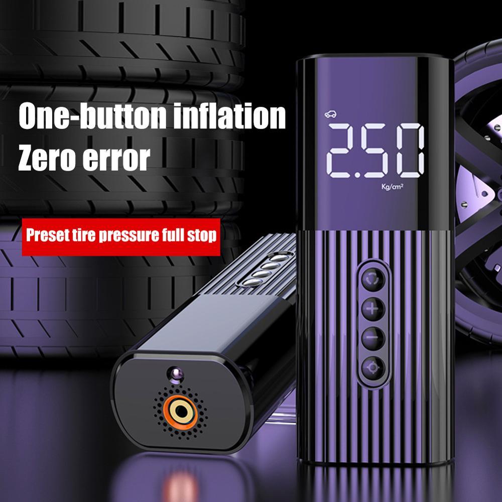Protable חשמלי רכב אוויר מכונית מדחס אוויר משאבת מיני צמיג Inflator אוטומטי צור Pumb גבוהה לחץ צמיג אוויר Inflator משאבת