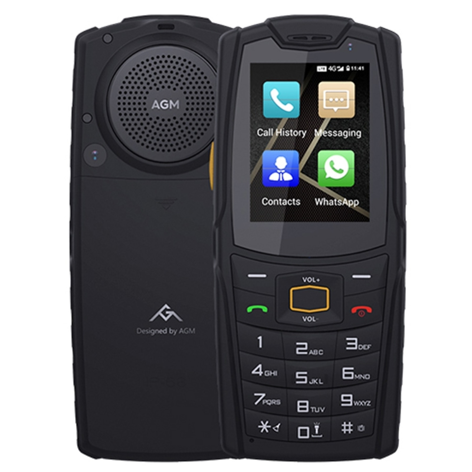 AGM M7 Rugged Phone 1GB+8GB Android 8.1 IP68 Waterproof Mobile Phone 2.4
