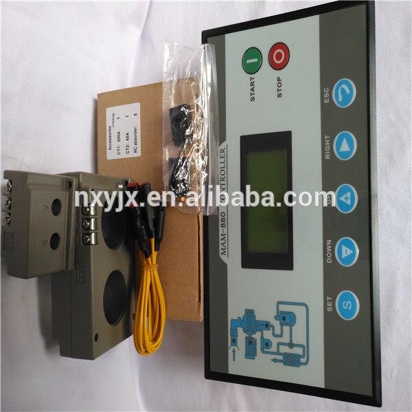 Купить с кэшбэком screw air compressor spare parts control panel MAM880 controller