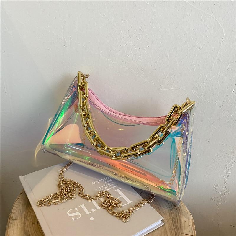 Womens Laser Handbags Purses evening clutch bags Small Crossbody Bag For Women Chain Mini Sweet Candy Color Shoulder Bag