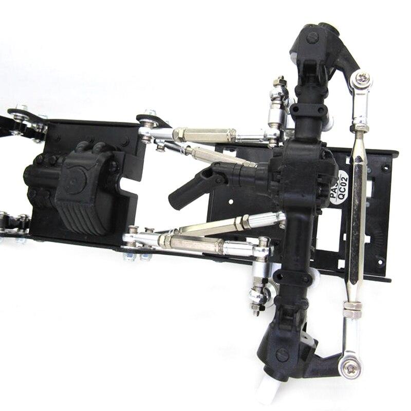 Metal Chassis Pull Rod Steering Rod Link Tie Rods for MN D90 D91 D96 D99S MN90 MS 1/12 RC Car Upgrade Parts enlarge