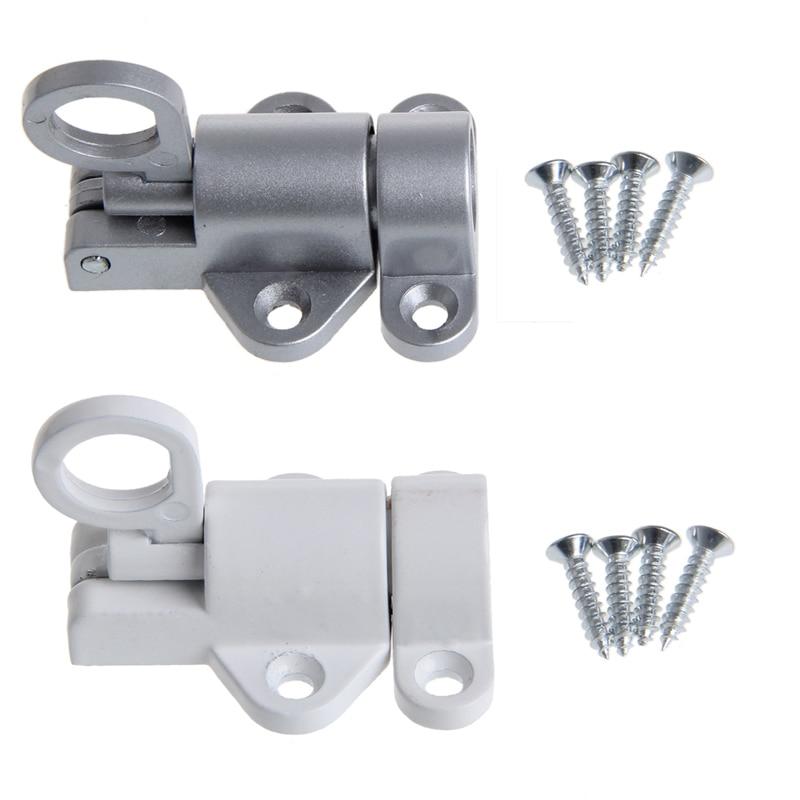 2019 New Aluminum White Window Gate Security Pull Ring Spring Bounce Door Bolt Aluminum Latch Lock Hardware