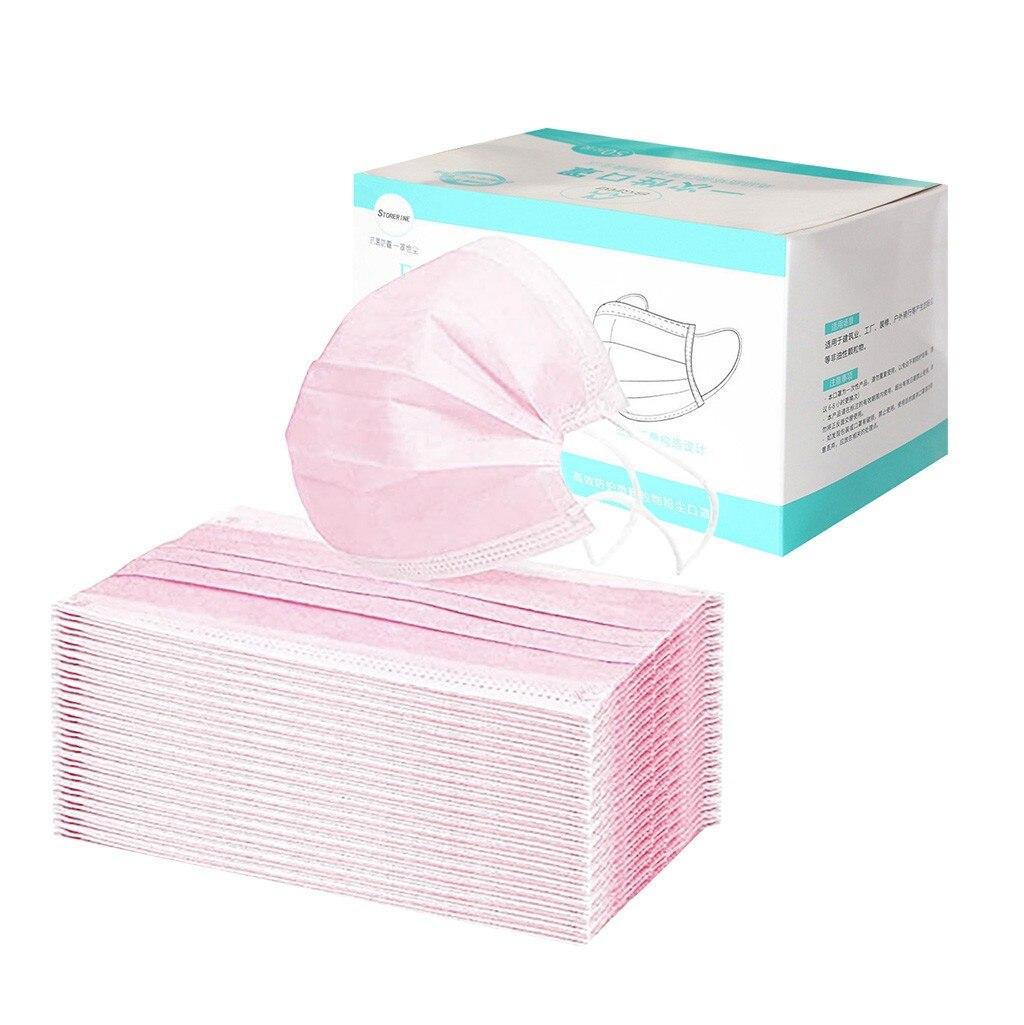 Mascarilla desechable de 3 capas para adultos, mascarilla facial mska desechable de uso único, 50 unidades