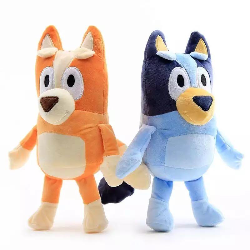 1Pair 28CM Soft The Dog Bingo Family Plush Dolls Cartoon Movie Toy Blue Bingo Stuffed Plush Toy Gifts For Kids
