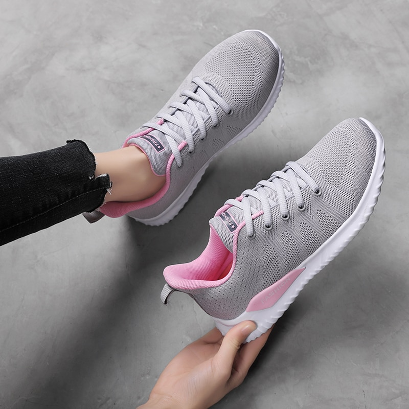 tenis mujer 2020 new tennis shoes for women flat jogging sport shoes women sneakers light comfort gym fitness training shoes