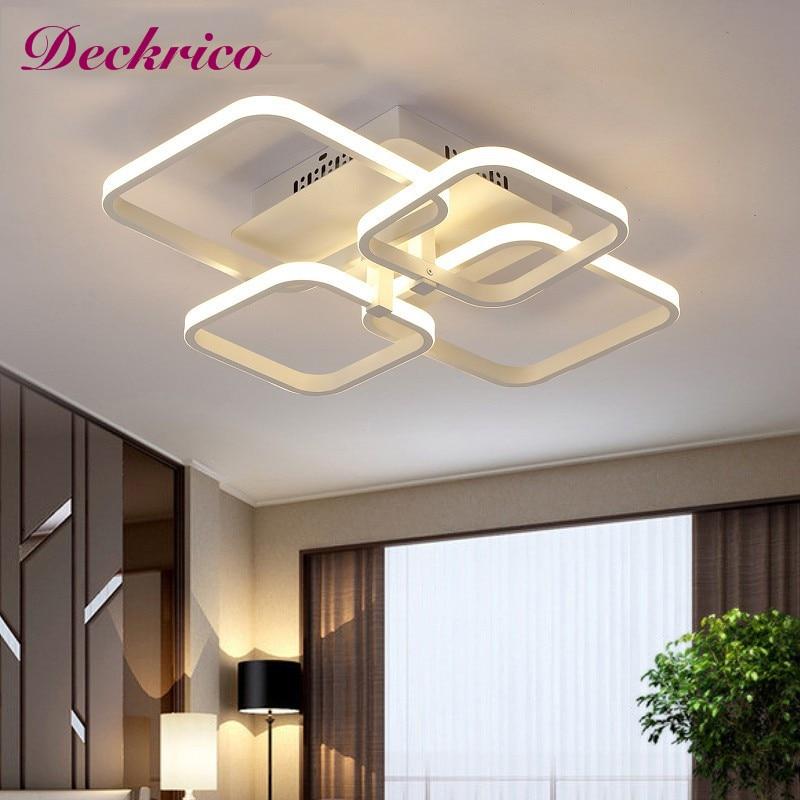 الحديثة الجديدة Led ثريا تركب بالسقف الاكريليك ديكور المنزل لغرفة المعيشة غرفة نوم معلقة تركيب المصابيح قلادة مصابيح السقف