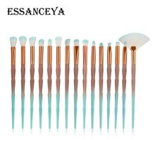 ESSANCEYA New 10/15PCS Diamond Cosmetic Make-Up Brushes Foundation Fan Powder Eyebrow Lip Eyeshadow Brush Makeup Brush Tools Set
